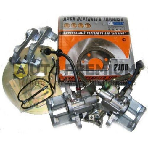 Задние дисковые тормоза Дизайн Сервис 13» вентилируемые для ВАЗ 2108-15, ВАЗ 2110-12, Лада Приора, Калина, Гранта c АБС